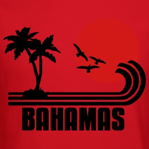 Bahamas, palm trees, sun beach retro design, wanderlust T-Shirts - Crewneck Sweatshirt