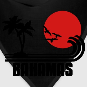 Bahamas, palm trees, sun beach retro design, wanderlust T-Shirts - Bandana