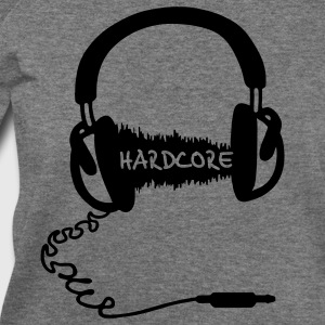 Headphones Headphones Audio Wave Motif: Hardcore T-Shirts - Women's Wideneck Sweatshirt
