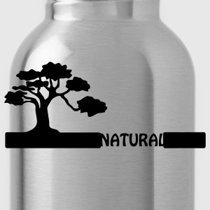 Natural, natural tree shape on grader. Hoodies - Water Bottle