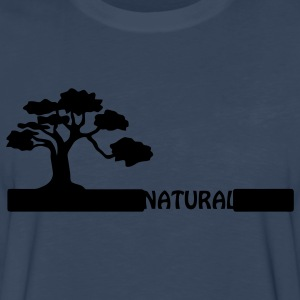 Natural, natural tree shape on grader. Hoodies - Men's Premium Long Sleeve T-Shirt