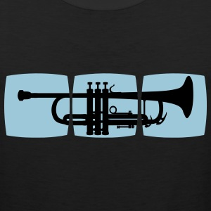 Trumpet Musician T-shirt for trumpeter / jazz trumpet & other varieties T-Shirts - Men's Premium Tank
