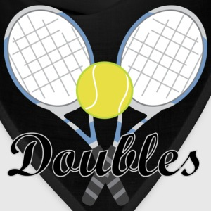 Tennis Doubles Racquet and Ball Sports T-Shirts - Bandana