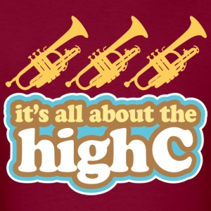 Trumpet Joke High C Music Hoodies - Men's T-Shirt
