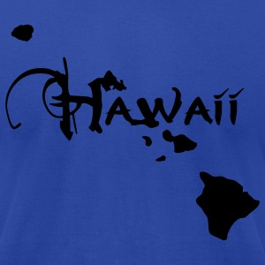 Hawaii, the surfers paradise island Ukulelisten. Hoodies - Men's T-Shirt by American Apparel