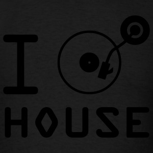 I play House Music / I love House Music / I heart House Music DJ Tuntable Vinyl Motif Hoodies - Men's T-Shirt