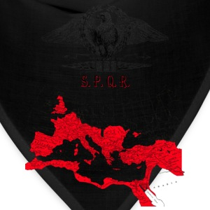 SPQR Shirt With An Eagle Banner & Detailed Map of The Roman Empire - Bandana