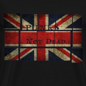 Punks Not Dead on the English flag.  Hoodies - Men's Premium T-Shirt