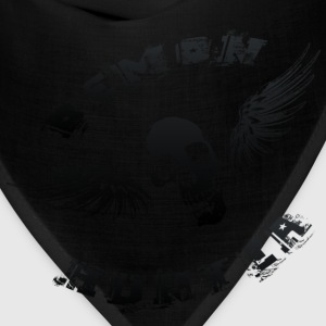 Demon Hunter Winged Skull Black Hoodies - Bandana