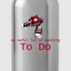 An Awful lot of Running to Do V-Neck - Water Bottle