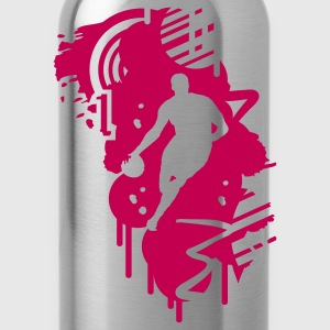 basketball graffiti Design T-Shirts - Water Bottle