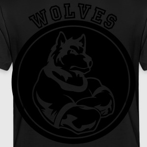 Wolves or Wolf Custom Sports Mascot Graphic Kids' Shirts - Toddler Premium T-Shirt