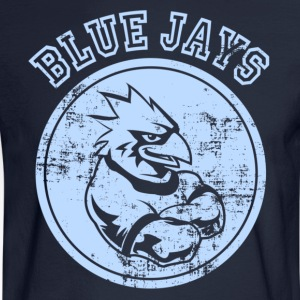Custom Blue Jays Team Graphic Mascot Hoodies - Men's Long Sleeve T-Shirt