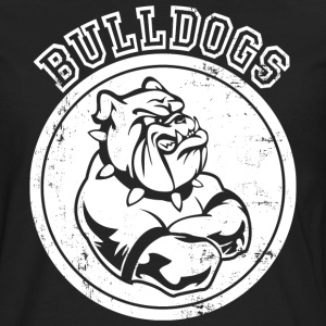 Custom Bulldog Sports Team Graphic Hoodies - Men's Premium Long Sleeve T-Shirt