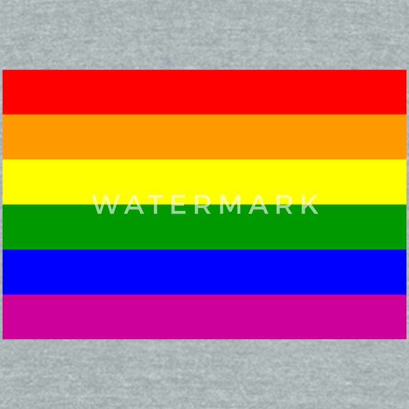 Gay/Homosexual Flag T-Shirts - Unisex Tri-Blend T-Shirt by American Apparel