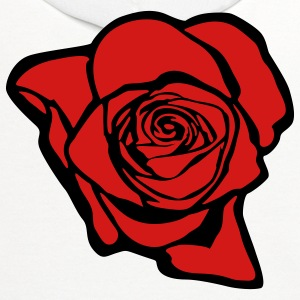 Rose (print on back of shirt) - Contrast Hoodie