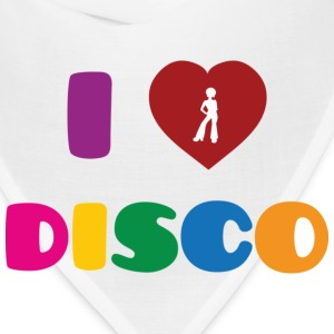 I Love Disco ! Buttons - Bandana
