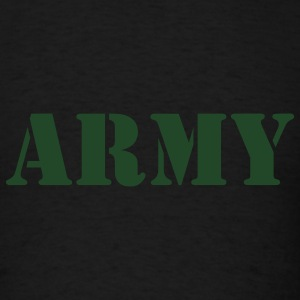 Army (V) Long Sleeve Shirts - Men's T-Shirt