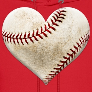 Baseball Heart Women's T-Shirts - Men's Hoodie