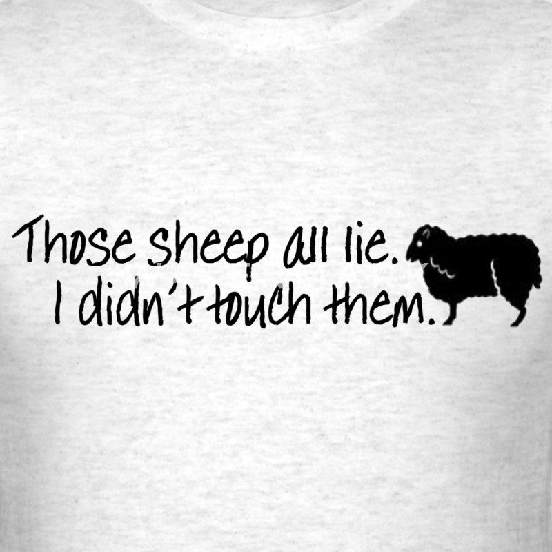 Lying Sheep - Men's T-Shirt
