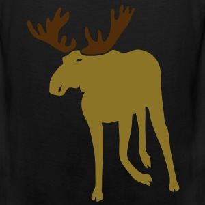 stag deer moose elk antler antlers horn horns cervine bachelor party night hunter hunting Long Sleeve Shirts - Men's Premium Tank