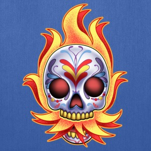 DoD Flame Skull by RollinLow Hoodies - Tote Bag