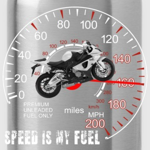 Speed is my Fuel Motor Cycle  T-Shirts - Water Bottle