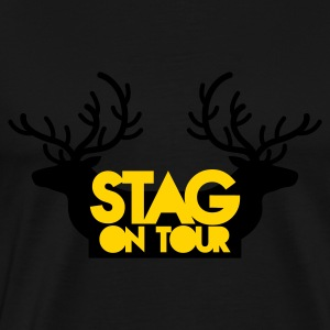 BACHELOR stag on tour with reindeer stags Long Sleeve Shirts - Men's Premium T-Shirt