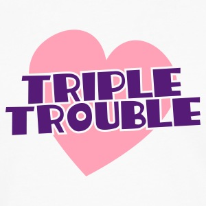 triple trouble heart triplets heart T-Shirts - Men's Premium Long Sleeve T-Shirt