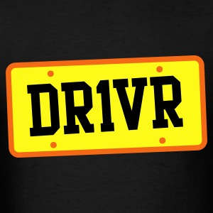 dr1ver DRIVER licence plate Bags  - Men's T-Shirt