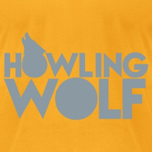 HOWLING WOLF wolves howling at the moon silver Bags  - Men's T-Shirt by American Apparel