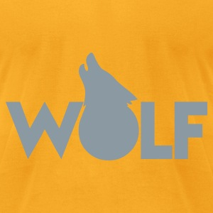 moon WOLF wolves howling design Bags  - Men's T-Shirt by American Apparel
