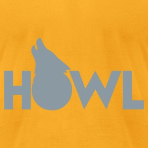 moon wolf HOWL Bags  - Men's T-Shirt by American Apparel