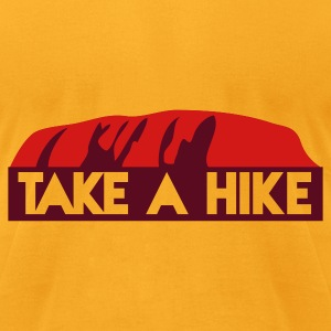 rock take a hike -  HIKE trekking the rock Bags  - Men's T-Shirt by American Apparel