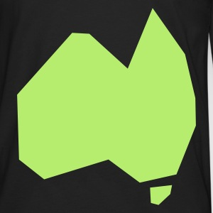 SIMPLIFIED AUSTRALIA aussie map Bags  - Men's Premium Long Sleeve T-Shirt