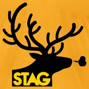snorting stag bachelor Bags  - Men's T-Shirt by American Apparel