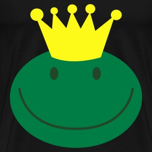 frog prince froggy face with a smile Bags  - Men's Premium T-Shirt