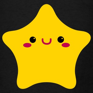 kawaii face on a rounded star cute! Bags  - Men's T-Shirt