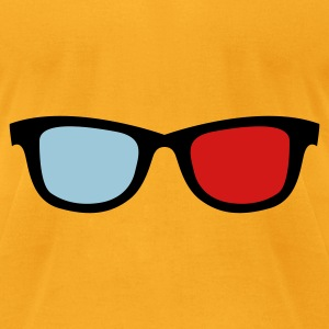 old skool nerdy 3d glasses Bags  - Men's T-Shirt by American Apparel