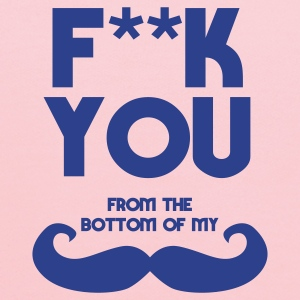f**k you from bottom of my moustache Bags  - Kids' Hoodie