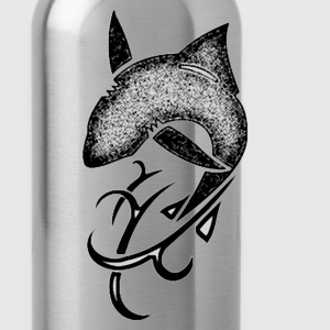 tribal shark v5 black fitted - Water Bottle