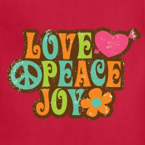 Love, Peace, Joy Shirt - Adjustable Apron