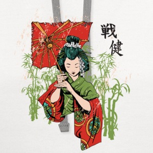 The Geisha ( HD Pixel Design ) - Contrast Hoodie