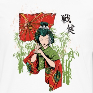 The Geisha ( HD Pixel Design ) - Men's Premium Long Sleeve T-Shirt