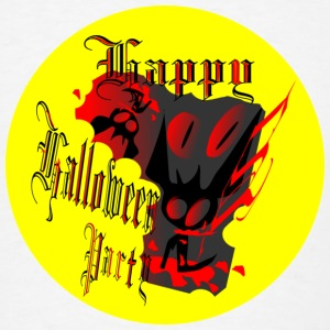 Happy halloween art Buttons - Men's T-Shirt