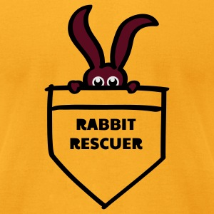 rabbit rescuer bunny rabbit hare cony leveret, bimbo help saver preserver pocket retiever savior save eyes Bags  - Men's T-Shirt by American Apparel