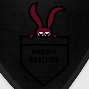 rabbit rescuer bunny rabbit hare cony leveret, bimbo help saver preserver pocket retiever savior save eyes Long Sleeve Shirts - Bandana