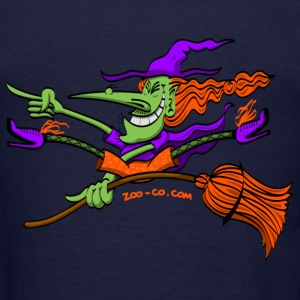 Crazy Witch Riding her Broomstick Sweatshirts - Men's T-Shirt