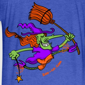 Crazy Witch Jumping Sweatshirts - Fitted Cotton/Poly T-Shirt by Next Level
