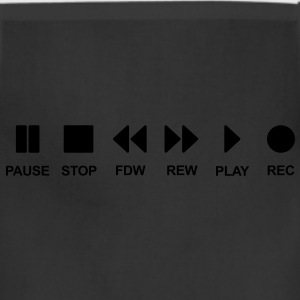 Cassette musik music play stop pause Black T-Shirts - Adjustable Apron